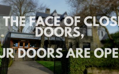 In the face of the closed doors of hatred, bigotry and fear, our doors are open.